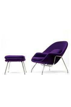 Purple Lounge Chair Bedroom Elegant Modway W Lounge Chair and Ottoman Purple Purple Bedroom Design, Bedroom Designs, City Apartment Decor, Purple Rooms, Bedroom Chair, Retro Furniture, French Country Decorating, Chair And Ottoman, Modern Chairs