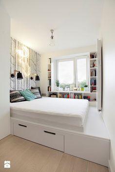 Znalezione obrazy dla zapytania rozwiązania dla małych sypialni