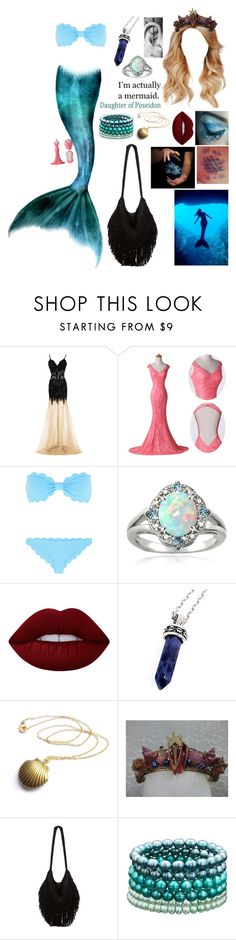 """""""Untitled #627"""" by skh-siera18 ❤ liked on Polyvore featuring Marysia Swim, Glitzy Rocks, Lime Crime, Bellini, Indah and Honora"""