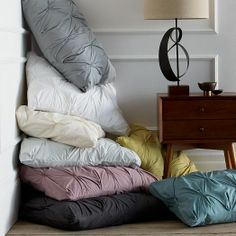 Organic Cotton Pintuck Shams to match the duvet covers, at  west elm