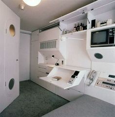 Nagakin Capsule Interior. I love the compartmentalize concept. Small spaces with great storage.