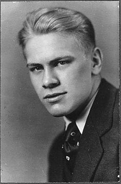 Gerald R. Ford, Jr. high school graduation portrait. 1931 he was always a very attractive man.