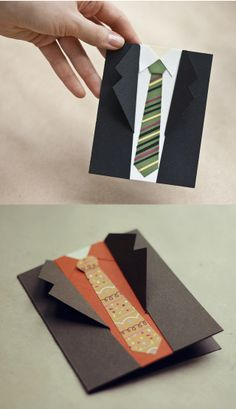 Tarjeta camisa para el día del padre 3d Birthday Card, Diy Birthday, Cool Cards, Diy Cards, Tuxedo Card, Cadeau Parents, Father's Day Greeting Cards, Creation Deco, Fathers Day Crafts
