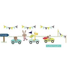 Little Racers Fabric Wall Stickers