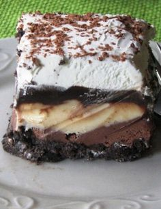 Ice Cream Cake ~ This easy but remarkable recipe involves two kinds of ice cream to create an awesome and refreshing treat that will be welcomed at any occasion.