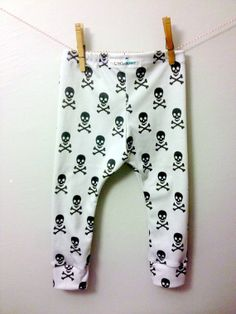 Skull baby leggings skulls boy toddler pants hip hipster fashion baby gray leggings handmade baby wholesale kids organic cotton