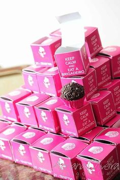 Brigadeiro - love the little box...                                                                                                                                                                                 Mais