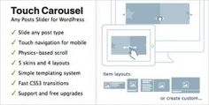 افزونه ایجاد اسلایدر لمسی TouchCarousel نسخه ۱٫۳ برای وردپرس