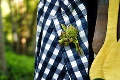 gingham & green via Bows and Arrows