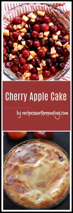 This Cherry Apple Cake is a pie but it has so many similarities to a cake! This sweet and simple dessert is beyond delicious and perfect for the upcoming holiday season! And the beauty of this recipe is it can be made with a variety of different fruits!