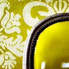 Schumacher - Anna Damask from the Alessandra Branca Collection in Acid Green.