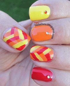 Tri-Polish Tuesday - My Nail Files: Fishtail Braid Manicure