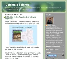 Why revision isn't about fixing mistakes http://celebratescience.blogspot.com/2015/05/behind-books-revision-correcting-vs.html