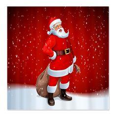 High Quality Santa Claus Shower Curtain