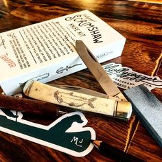 New knife scrimshaw kit for our anniversary! now I've got a custom catfish… 10 Anniversary, Catfish, Step By Step Instructions, Initials, How To Apply, Kit, Projects, Log Projects