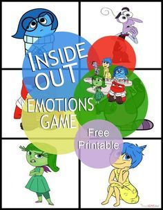 Inside Out Emotions Game #change for middle to upper primary. Look at different language for each category.