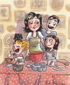 LaetiVanille: Cuisinons en famille