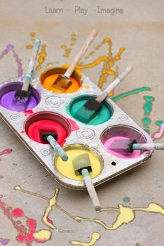 How to make sidewalk chalk paint in just two minutes!