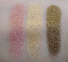 L'oreal Infallible Summer 2012 Eye Shadows Pink Sapphire, Gold Imperial, and Gleaming Bronze (natural light)