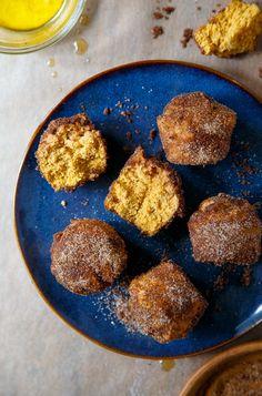 Pumpkin Donut Holes baked
