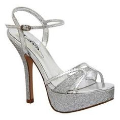 @Overstock.com - Women's Lava Shoes Prevue Silver - The Prevue is a high heel platform dress shoe with an adjustable strap and sparkling glitter on sole, heel and toe strap.  http://www.overstock.com/Clothing-Shoes/Womens-Lava-Shoes-Prevue-Silver/7489441/product.html?CID=214117 $39.95