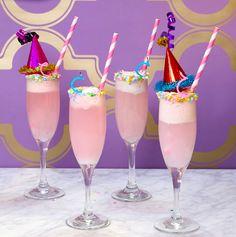 Birthday Cake Mimosa Recipe - Birthday Cocktail Ideas