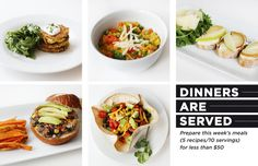 Dinners Are Served: 10 Vegetarian Meals for Less than $50 #theeverygirl Black Bean burgers sound so yummy! I'm going to try to make them