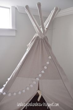 BEST tutorial I've found yet!! Lindsay & Drew: Collapsible PVC Teepee DIY...