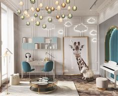 An unusual chandelier, a piano near the decorative arch and elegant furniture wi. An unusual chandelier, a piano near the decorative arch and elegant furniture will remain relevant, even when the ch Kids Bedroom Designs, Kids Room Design, Design Bedroom, Baby Room Decor, Bedroom Decor, Nursery Room, Luxury Kids Bedroom, Room Interior Design, Luxurious Bedrooms