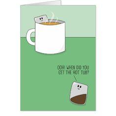 Hot Tub Teabags Greeting Card