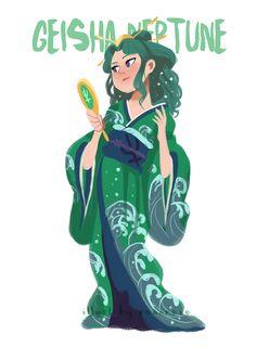 """Sailors com roupas mais """"realistas"""" <3 Aartista Renavere resolveu criar uma versão de todasSailor Scouts com designs inspirados no Japão Feudal! Cada design foi cuidadosamente criado com base em roupas que existiram nesta época, seus padrões e cores foram totalmente inspirados por fotos históricas de gueixas, ninjas e samurais.Seguindo as cores de cada personagem, o…"""