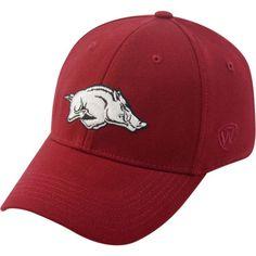 3fc0f725d96b2 Top of the World Men s Arkansas Razorbacks Cardinal Premium Collection M-Fit  Hat
