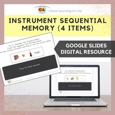 This digitally interactive resource is designed for use with Google Slides. This resource contains 10 slides in total.The student must remember the instrument sequence, so that they can drag the instrument that is missing in the sequence to the correct space once the sequence is covered up.