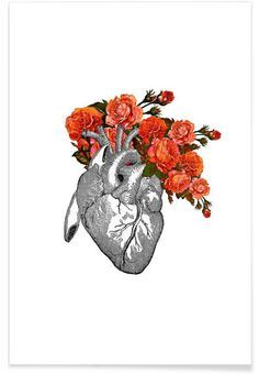 Flowering heart - Rococco LA - Premium Poster