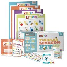 merka Toddler Learning Kit - Includes 4 Posters, 58 Flashcards, 58 Practice Book Exercises and 36 Reward Stickers - Learn Letters, Colors, Shapes and Numbers - PreK & K Preschool Education, Preschool Learning, Kids Learning, Teaching Resources, Teaching The Alphabet, Learning Letters, Reward Stickers, Educational Toys For Kids, Educational Activities