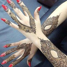 """Mehndi or Henna word comes from the Sanskrit Language as """"Mendhika"""". Henna Mehndi designs became a new cool, where they … Pakistani Mehndi Designs, Latest Arabic Mehndi Designs, Mehndi Designs Book, Mehndi Design Images, Simple Mehndi Designs, Mehndi Designs For Hands, Bridal Mehndi Designs, Mehandi Designs, Arabic Design"""