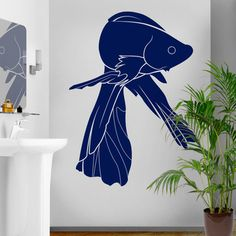 Siamese Fish Wall Decal Blue, £59, now featured on Fab.