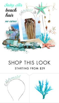 """Beach Hair"" by annbaker ❤ liked on Polyvore featuring beauty, Crown and Glory, Salt Water Sandals and beachhair"