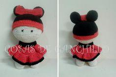 Muñeca 10 cm. Personalizada de Minnie 14 euros.