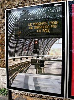 Campagne originale pour #Bescherelle #OOH sur le thème de la gare