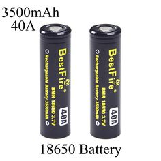 >> Click to Buy << Electronic Cigarette Battery 18650 Battery Box Mod Rechargeable E Cigarette Flashlight Battery 3500mAh 40A Power Battery X2310 #Affiliate
