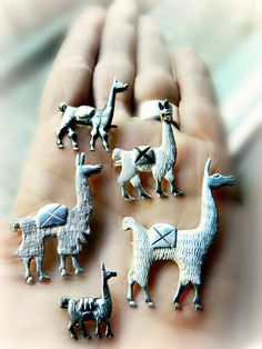 Sterling Silver Vintage Llama Pins on Etsy