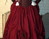 Gypsy Renaissance Pirate Gown Dress costume naughty Wench Womens Costume Equestrian. $200.00, via Etsy.