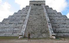 2008_0209_09.42a. Rob at Chichen Itza main pyramid ar=1.60. Love it and a dream come true when I took a tour here.