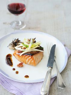 Gourmet Recipes, Cooking Recipes, Cooking Ideas, Coffee Room, Yummy Food, Tasty, Eat To Live, Grilled Salmon, Kitchens