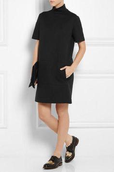 $750 NWT Fabulous CEDRIC CHARLIER Black Turtleneck Dress, sz IT40 #CdricCharlier
