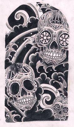 Amo las calaveras del día de los muertos mexicano!