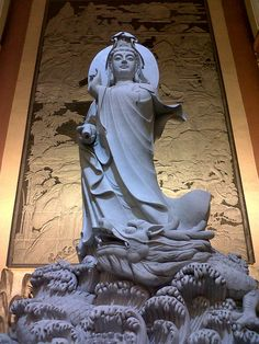 ND: Thank you for your protection from danger in all its forms. Thank you for being Buddha,Guanyin. Buddha Temple, Buddha Buddhism, Buddha Art, Statues, Asian Sculptures, Altar, Guanyin, Sacred Art, Gods And Goddesses
