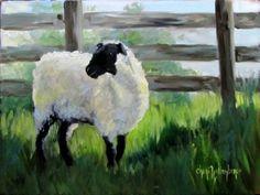 watercolor of sheep/lambs | Eddie's Lamb Original Oil Painting by ChatterBoxArt…