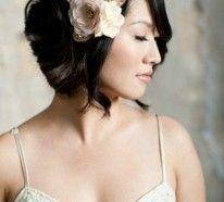 Brautfrisuren für kurze Haare- Wenn Sie einen Kurzhaarschnitt haben, seien Sie nicht traurig! Sie können trotzdem eine wunderschöne Hochzeitsfrisur bekommen